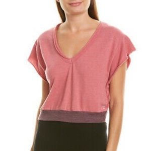 Free People Movement Happy Camper Cropped Tee, L